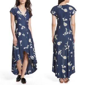 Free People | Floral button-up cap sleeve dress